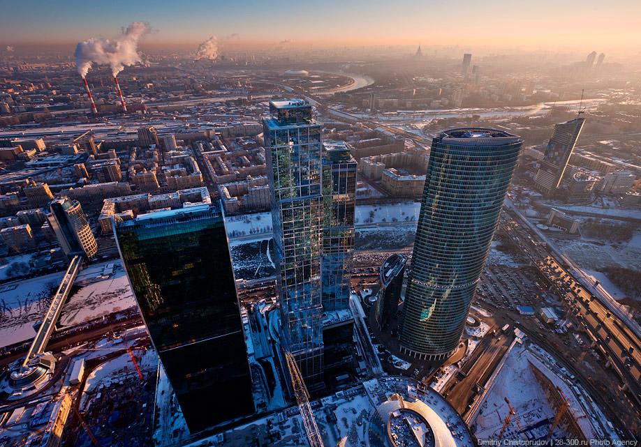 0220 Москва Сити с воздуха