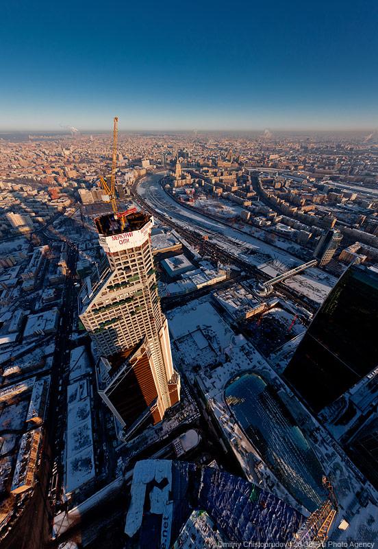 056 Москва Сити с воздуха