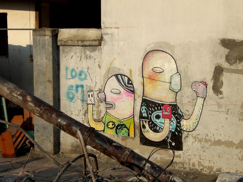 07230000 Абстрактный стрит арт от Junkhouse