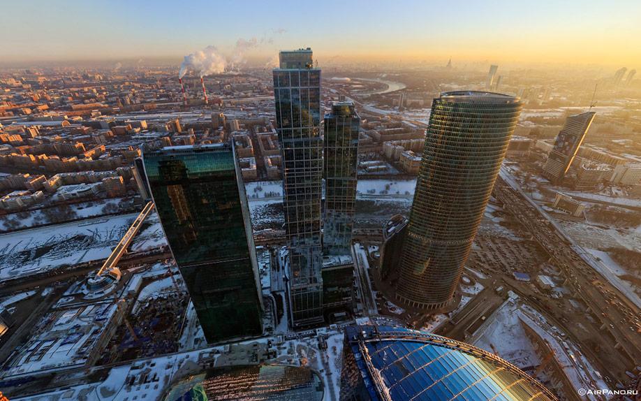 075 Москва Сити с воздуха
