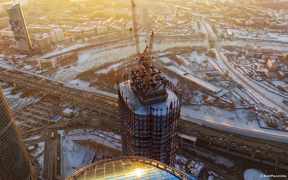 084 Москва Сити с воздуха