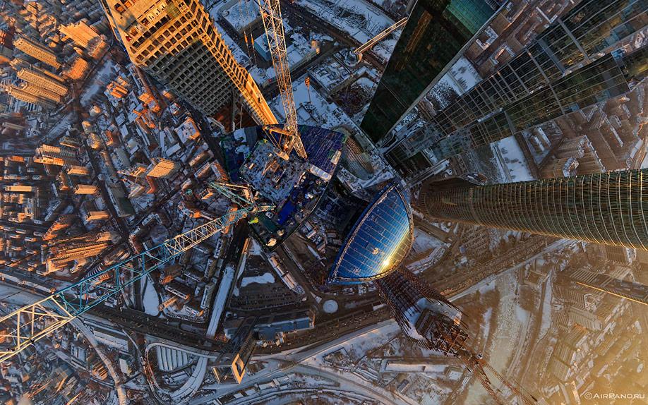 10120 Москва Сити с воздуха