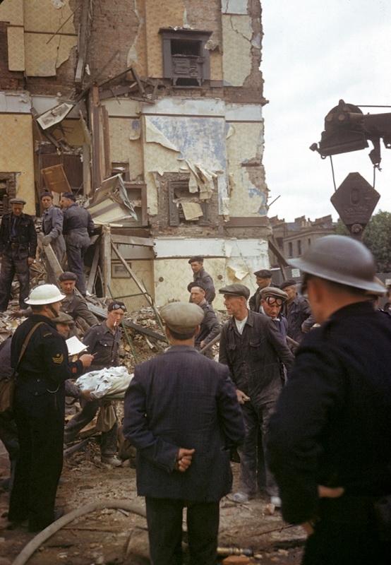 1018 Цветные фото Лондона времен Второй мировой