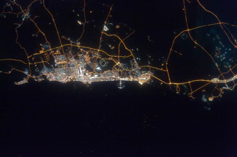 11142 Ночные города. Вид из космоса.