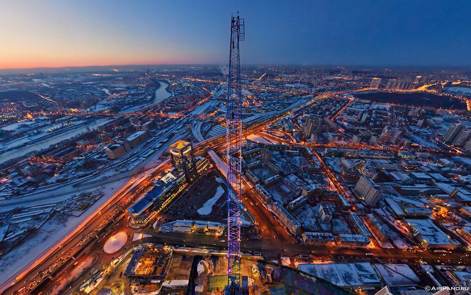 11154 Москва Сити с воздуха