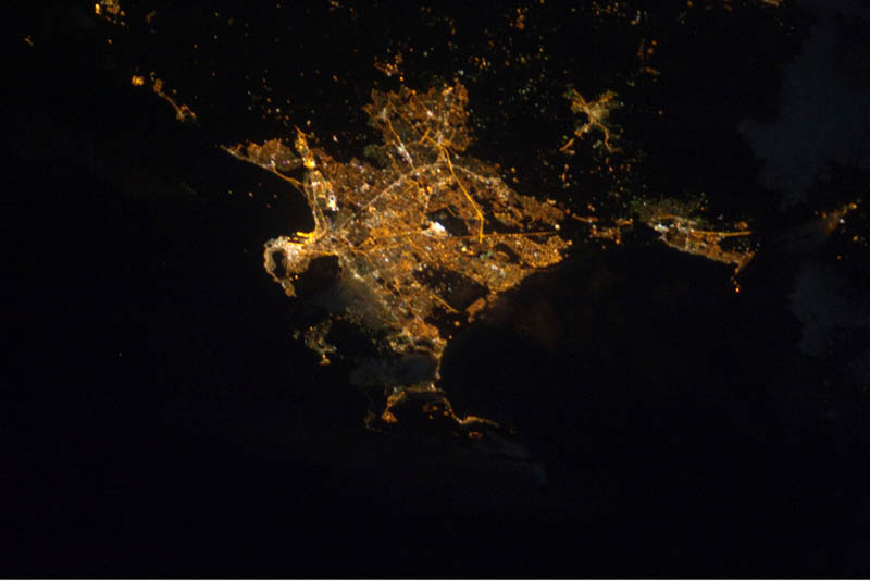 12114 Ночные города. Вид из космоса.