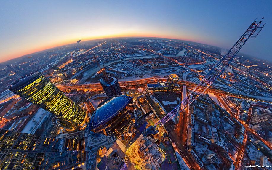 12127 Москва Сити с воздуха