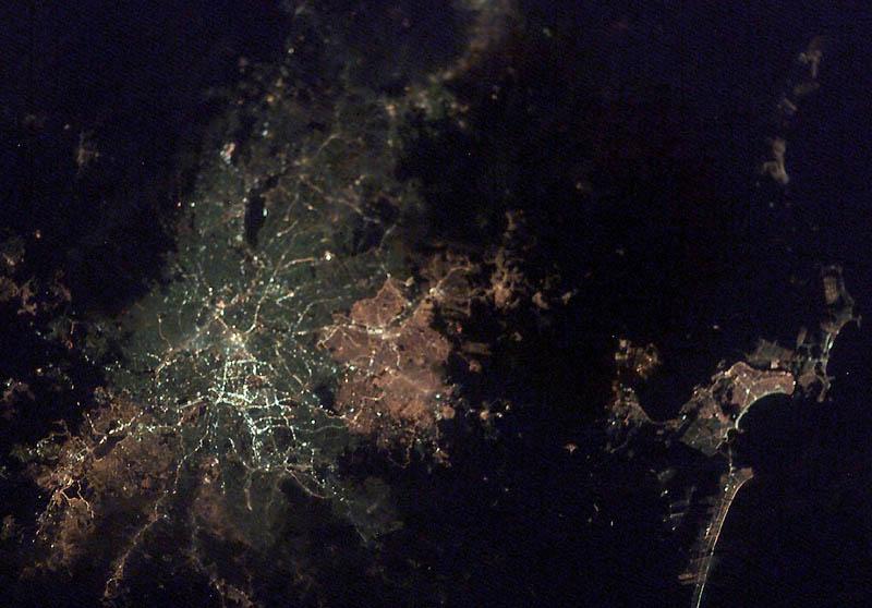 13101 Ночные города. Вид из космоса.