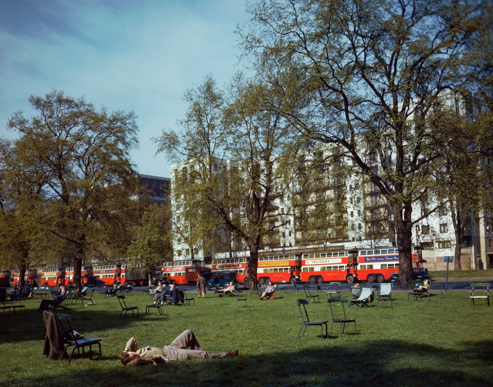 1318 Цветные фото Лондона времен Второй мировой