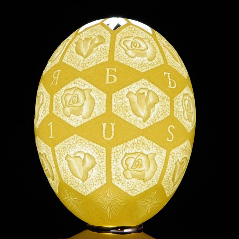 1361 Ажурные шедевры: Резная яичная скорлупа от Брайан Бэйти
