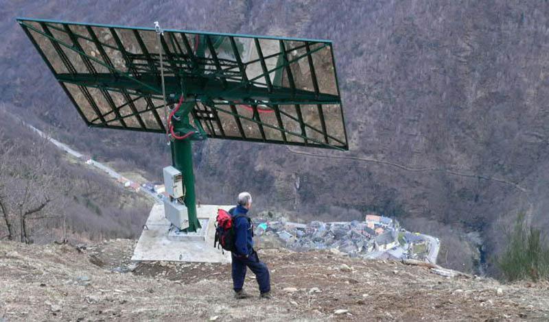 Итальянская деревня строит гигантское зеркало, чтобы не оставаться без света 83дня