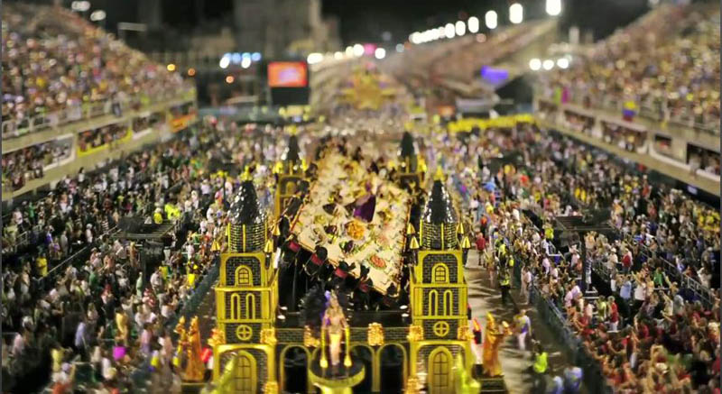 1808 Бразильский карнавал в тилт шифт объективе