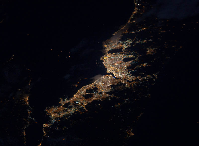 1872 Ночные города. Вид из космоса.