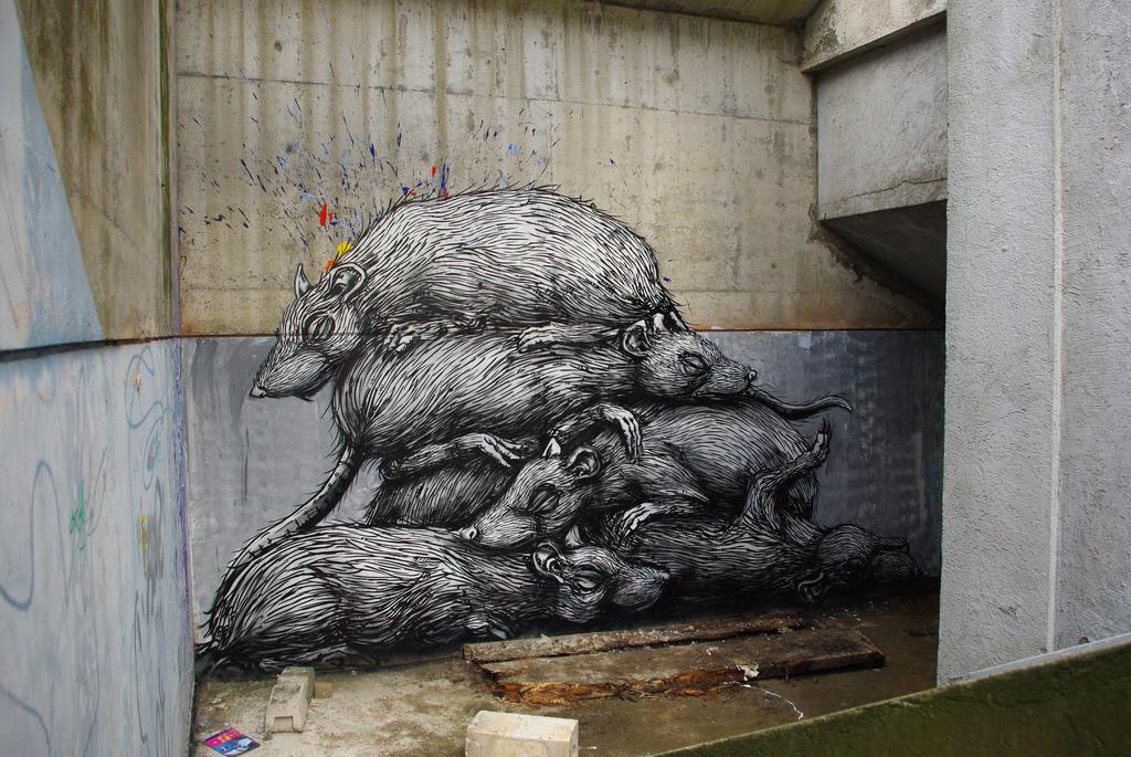 18800000 Животный стрит арт от бельгийского граффитчика ROA