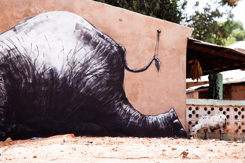 22800000 Животный стрит арт от бельгийского граффитчика ROA