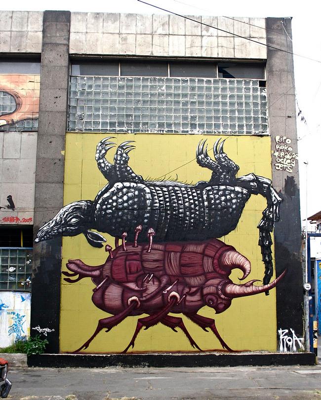 23800000 Животный стрит арт от бельгийского граффитчика ROA
