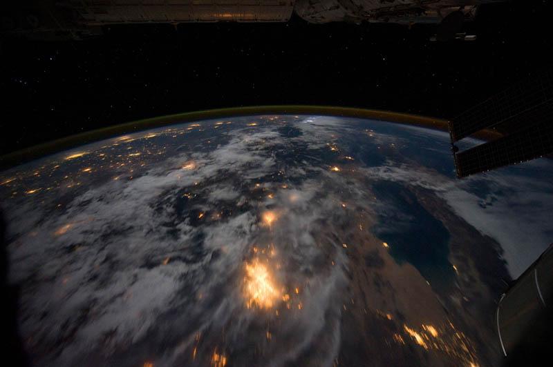 2840 Ночные города. Вид из космоса.