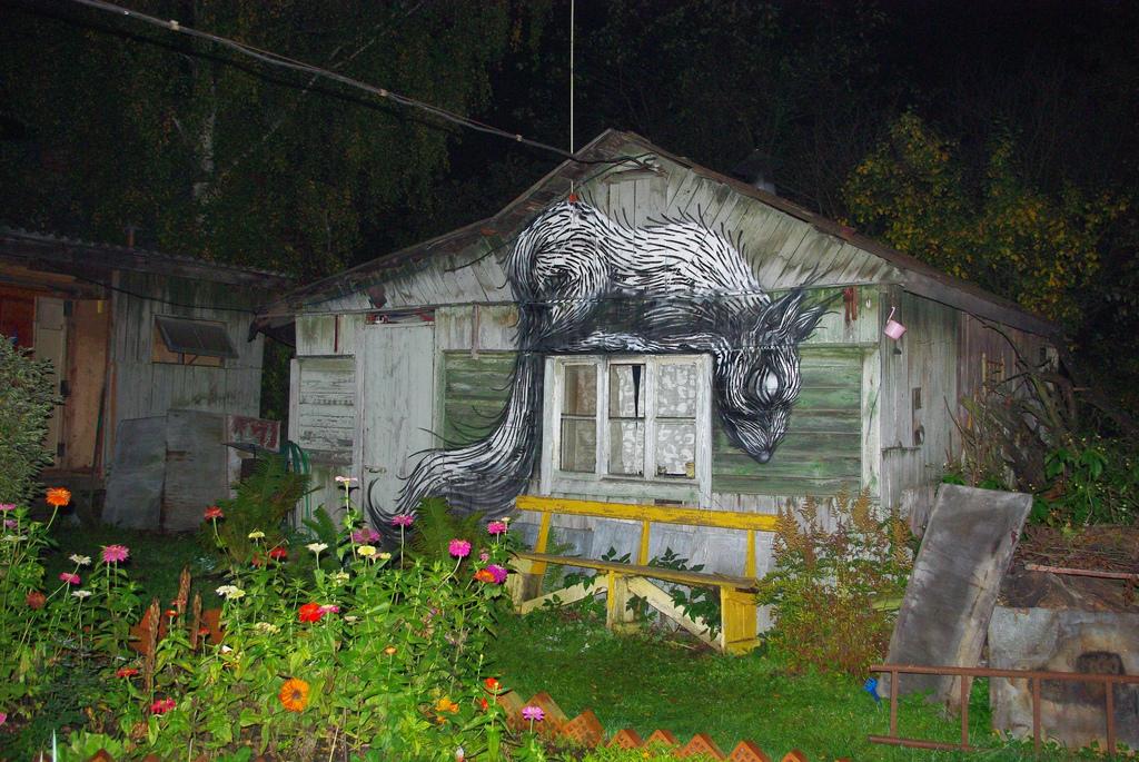 29700000 Животный стрит арт от бельгийского граффитчика ROA