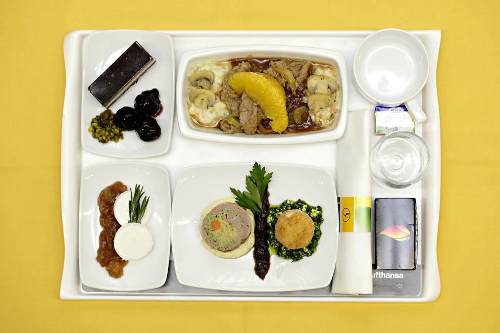 Блюда в самолете