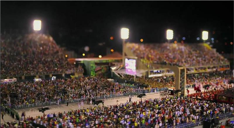 3273 Бразильский карнавал в тилт шифт объективе