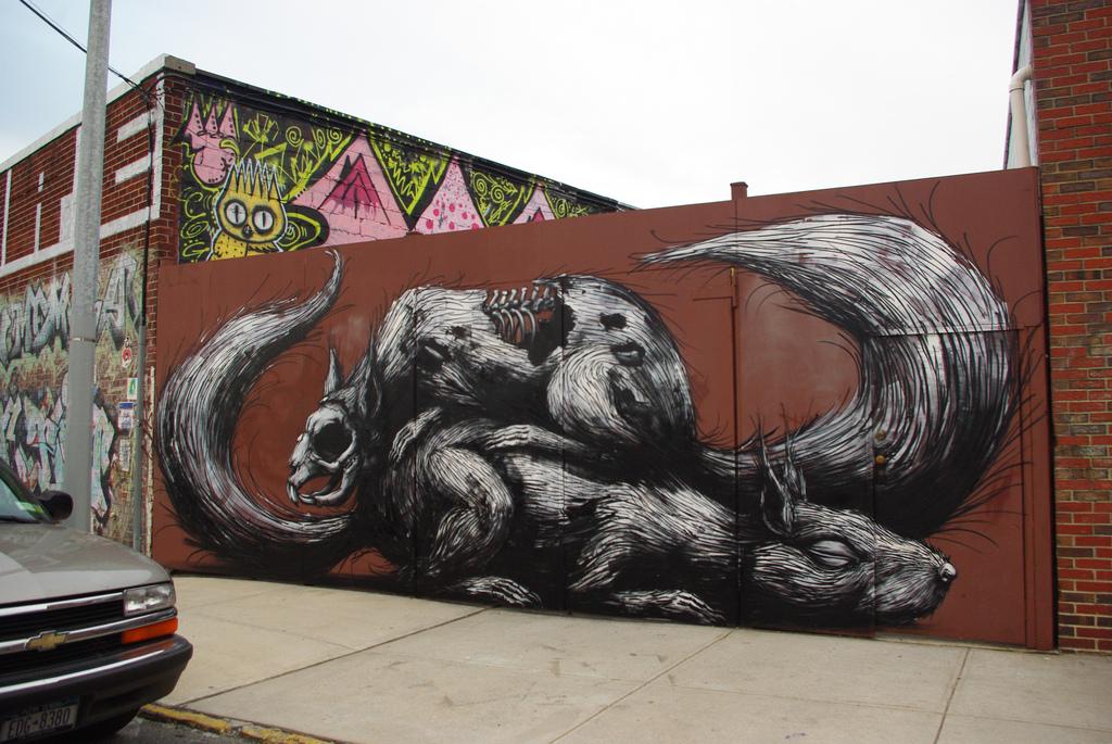35400000 Животный стрит арт от бельгийского граффитчика ROA