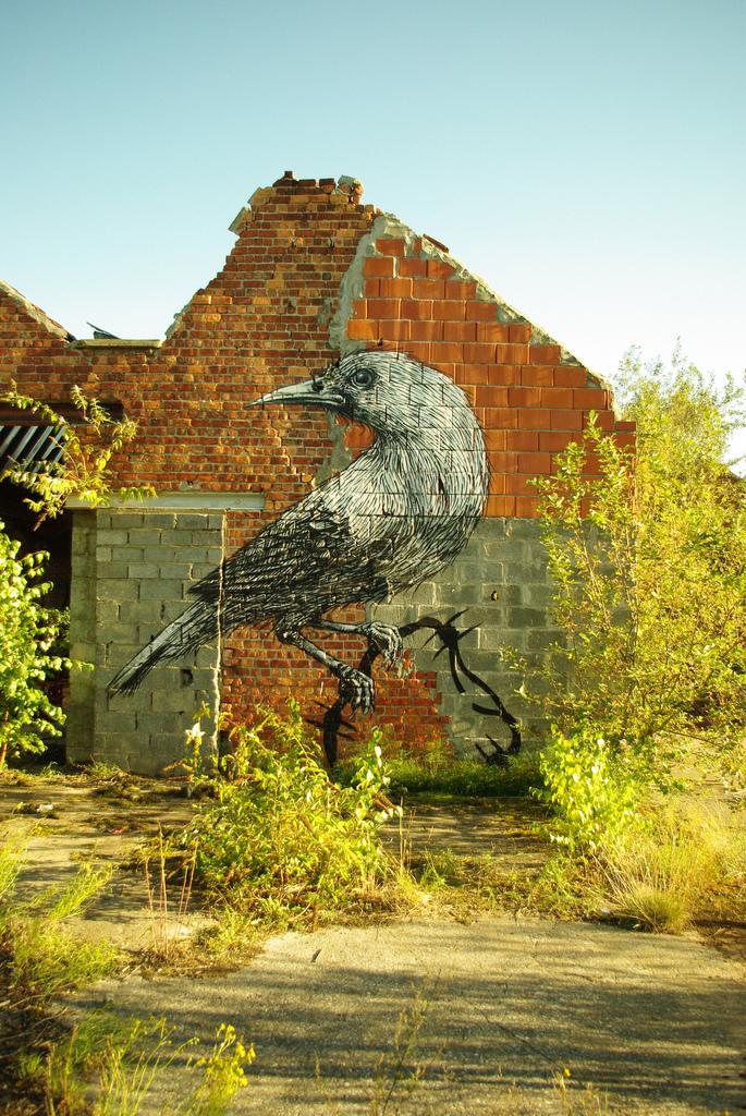 39300000 Животный стрит арт от бельгийского граффитчика ROA