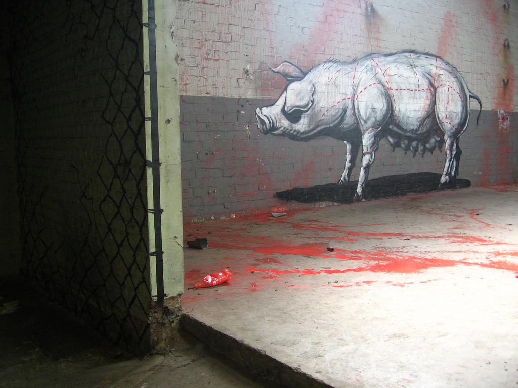 40200000 Животный стрит арт от бельгийского граффитчика ROA