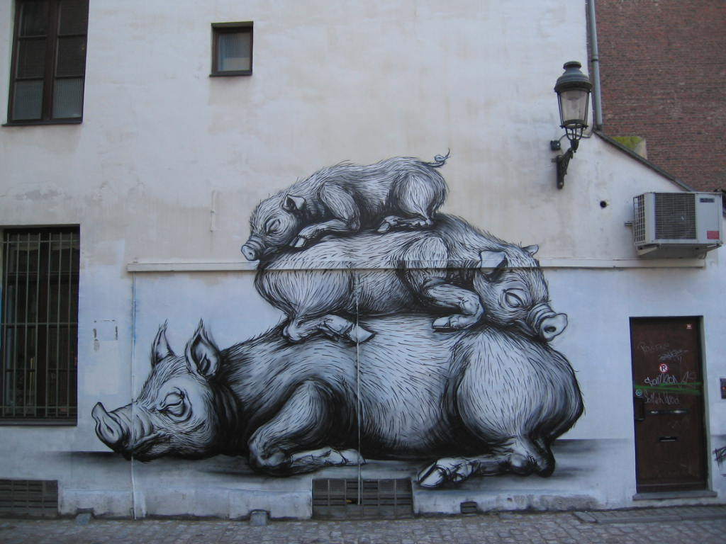 41200000 Животный стрит арт от бельгийского граффитчика ROA