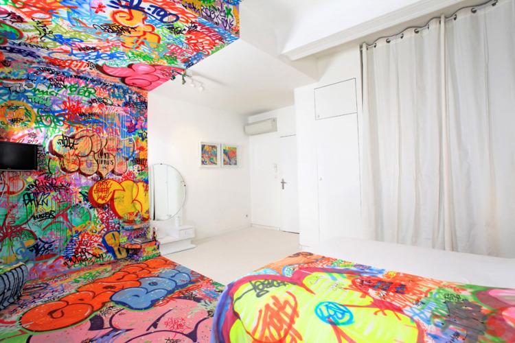 4232 Комната для любителей граффити