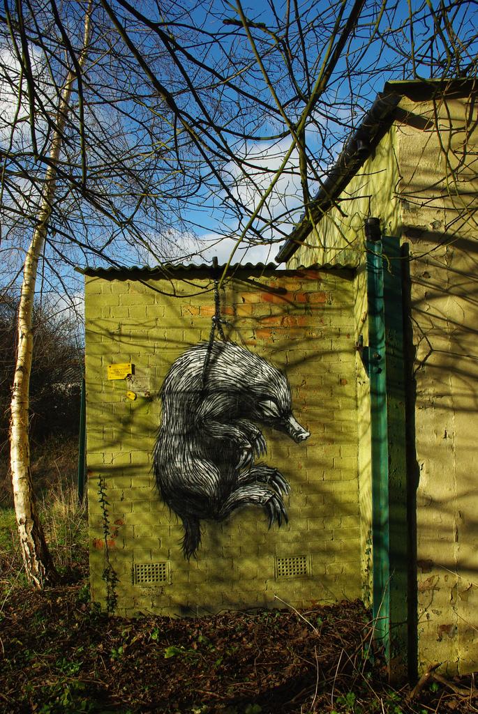 43100000 Животный стрит арт от бельгийского граффитчика ROA