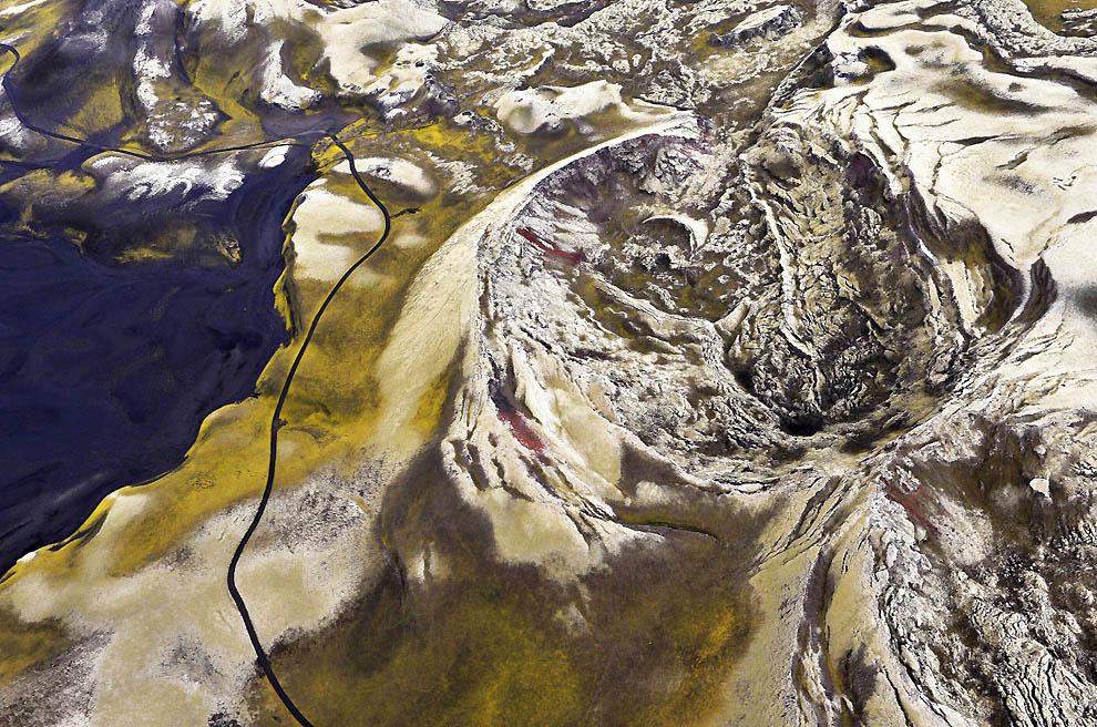 5177 Исландия с высоты птичьего полета