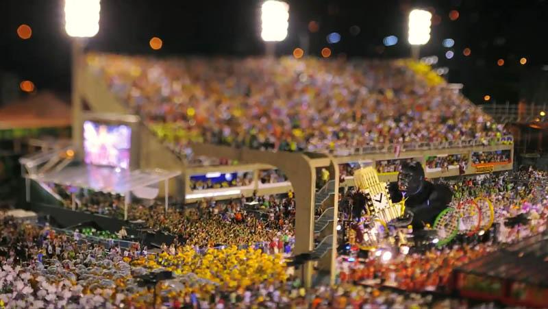 5205 Бразильский карнавал в тилт шифт объективе