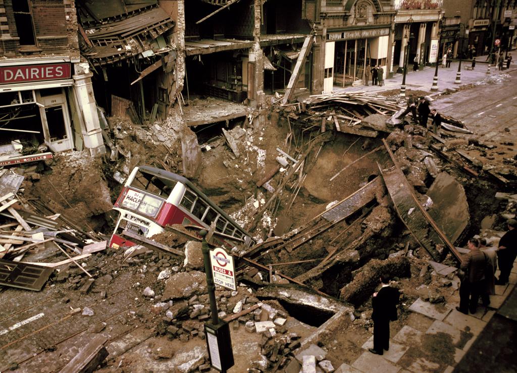 522 Цветные фото Лондона времен Второй мировой