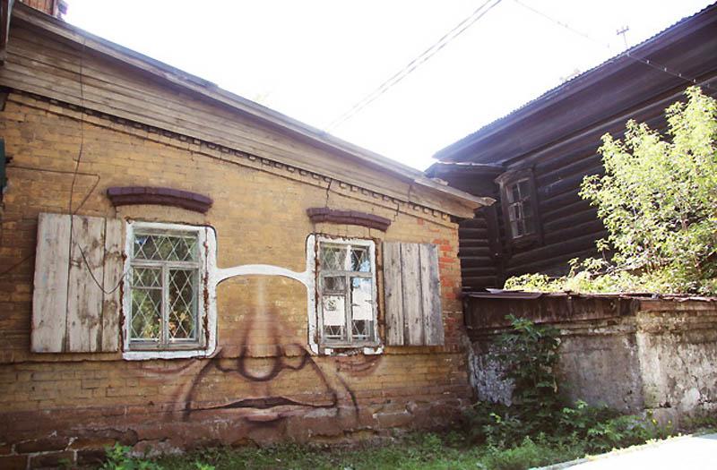 6126 Лица на зданиях от Никиты Nomerz