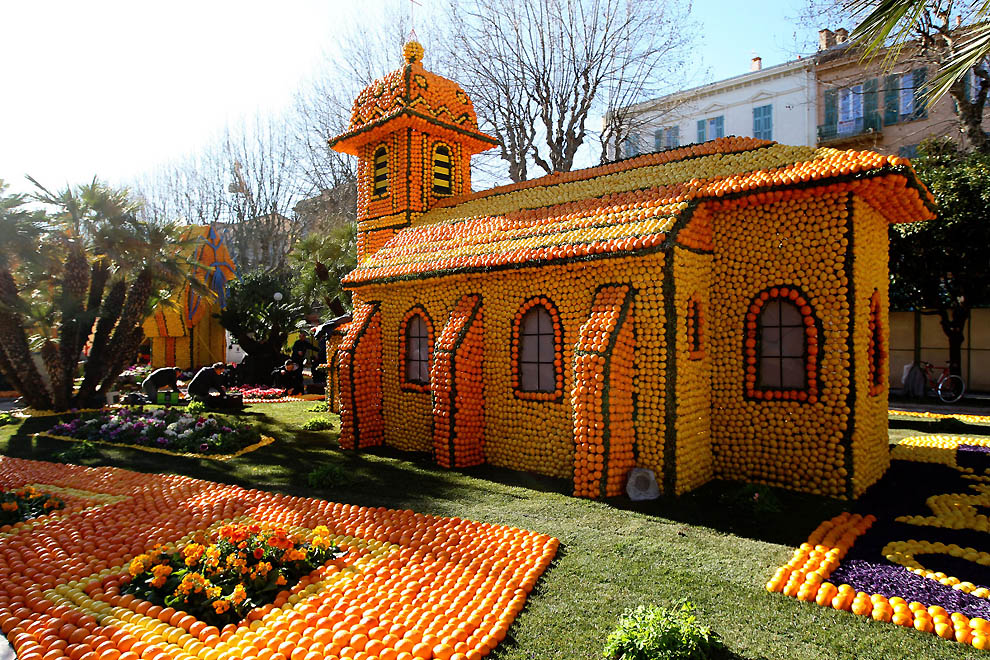 6129 Цитрон   лимонный фестиваль во Франции