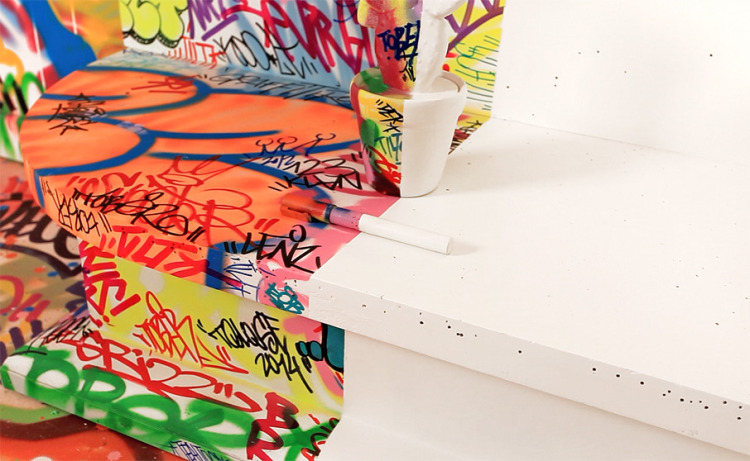 6180 Комната для любителей граффити