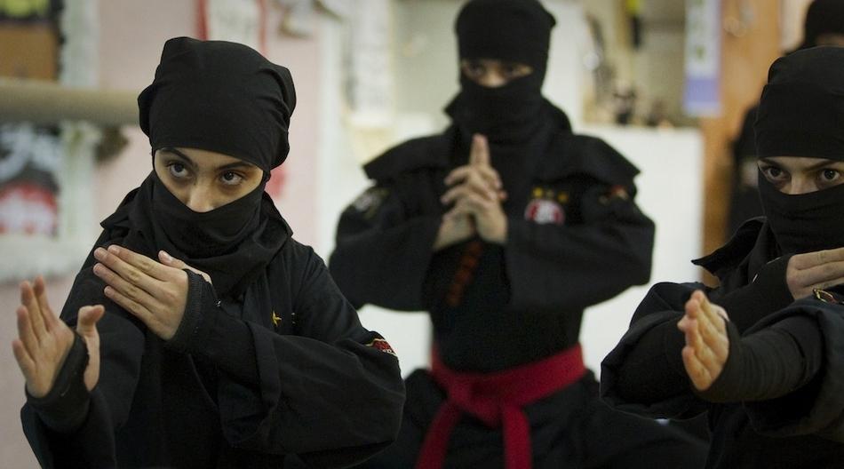 7107 Иранские женщины ниндзя