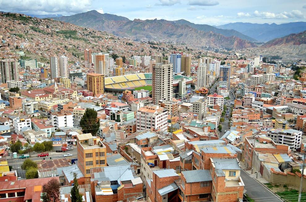 7127 Ла Пас   самая высокогорная столица мира с высоты