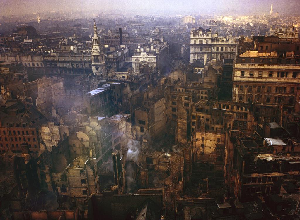 719 Цветные фото Лондона времен Второй мировой