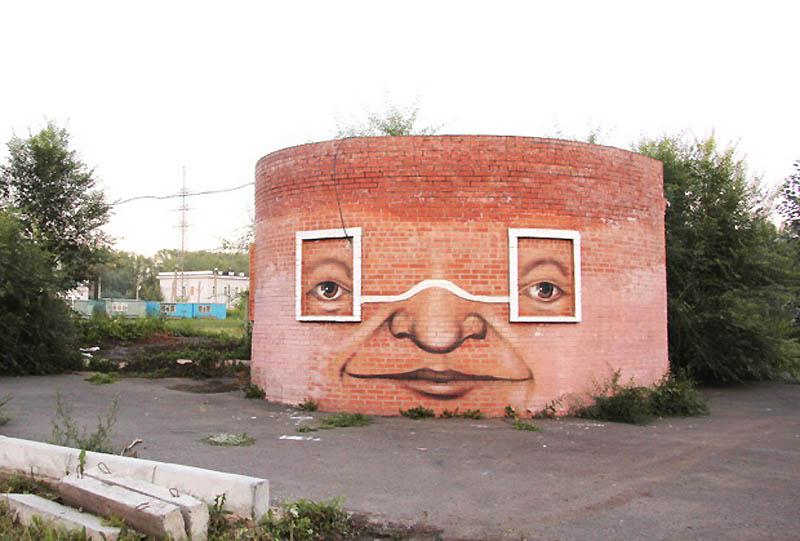 8111 Лица на зданиях от Никиты Nomerz
