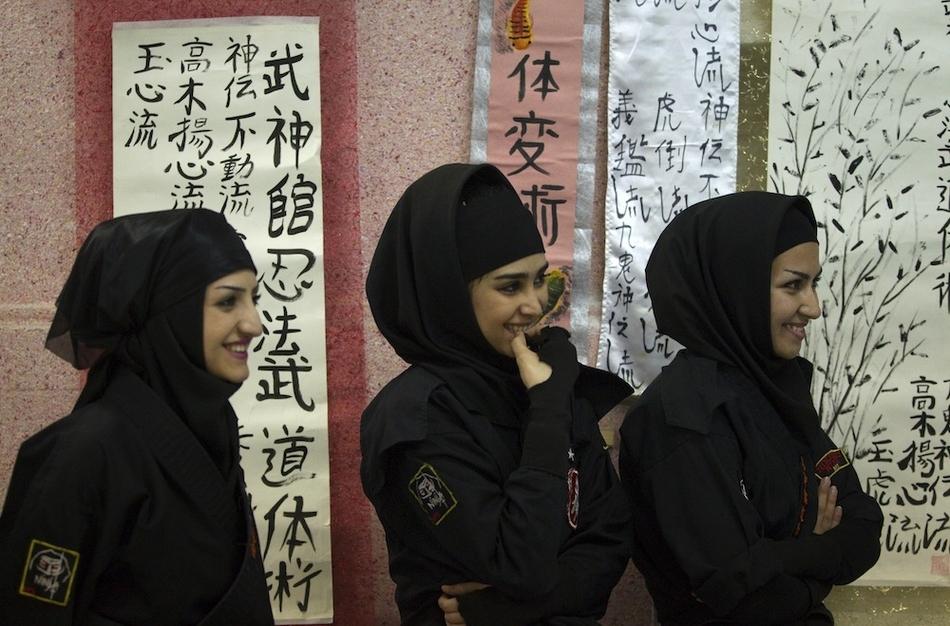 9103 Иранские женщины ниндзя