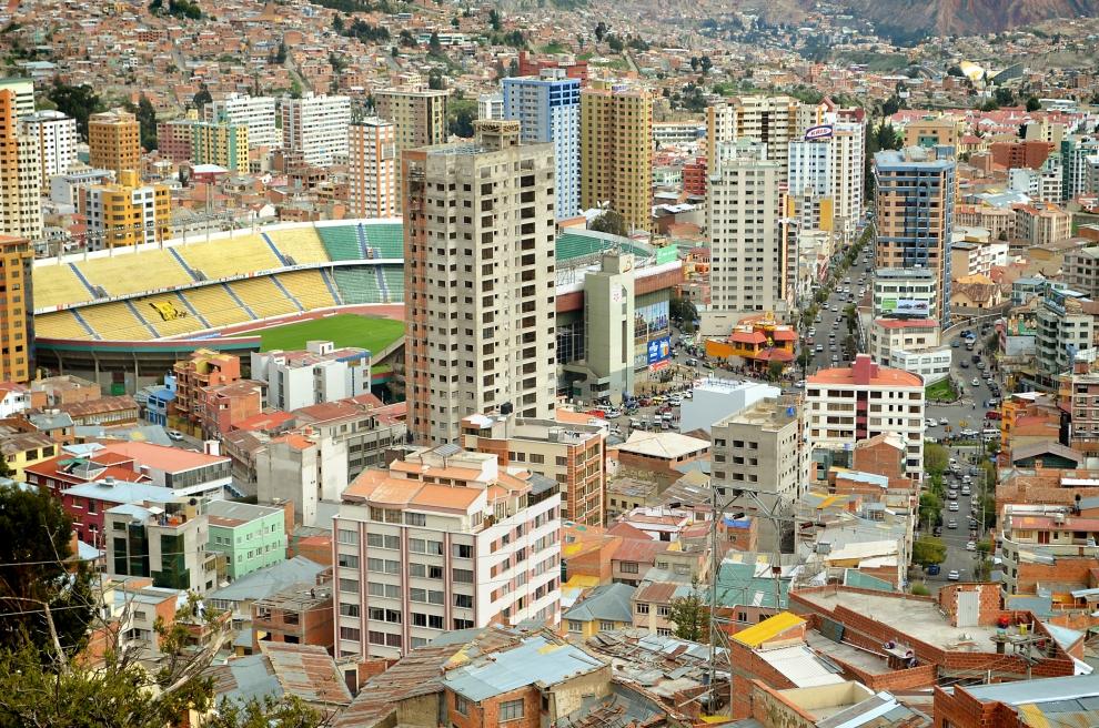 9120 Ла Пас   самая высокогорная столица мира с высоты