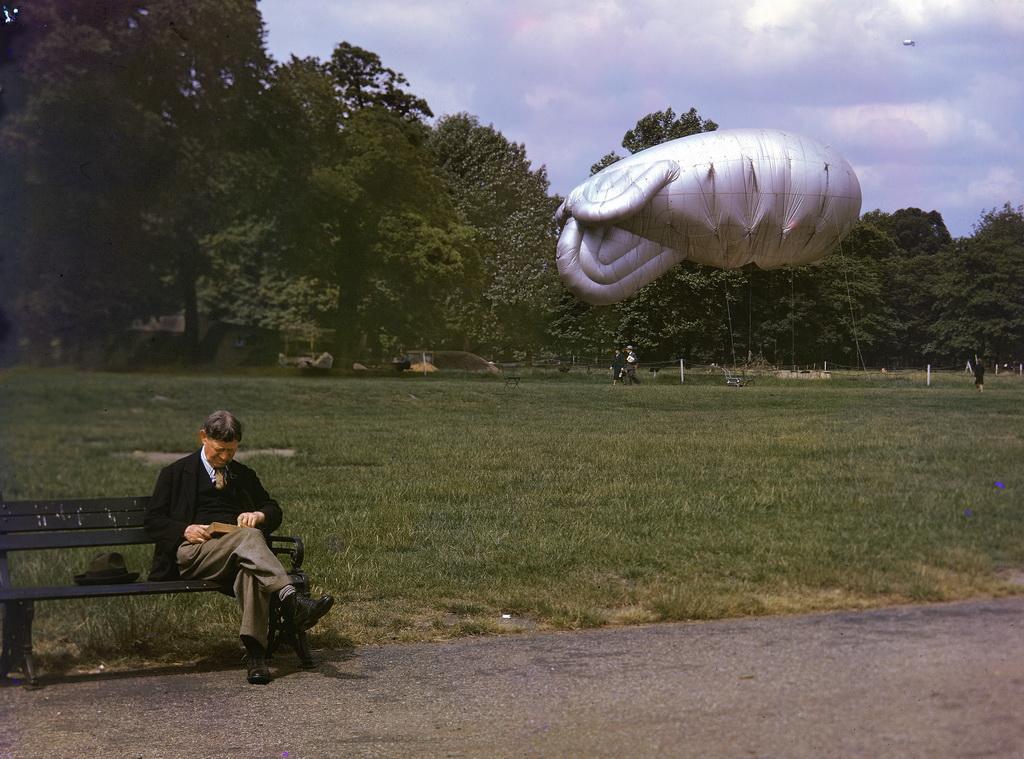 917 Цветные фото Лондона времен Второй мировой