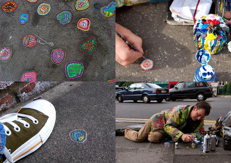 BIGPIC14 Уличное искусство из жевательной резинки