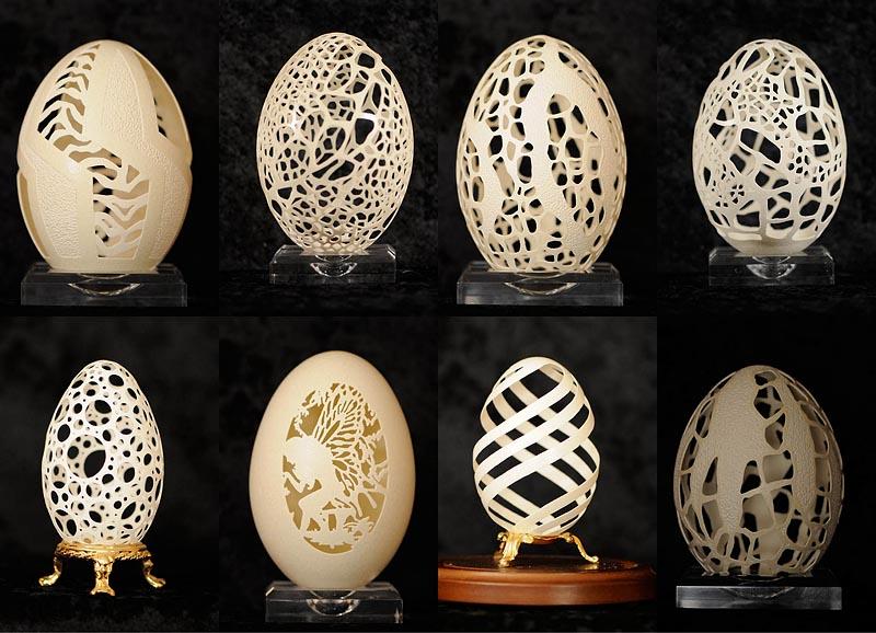 BIGPIC49 Ажурные шедевры: Резная яичная скорлупа от Брайан Бэйти