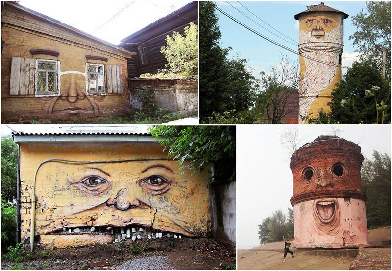 BIGPIC64 Лица на зданиях от Никиты Nomerz