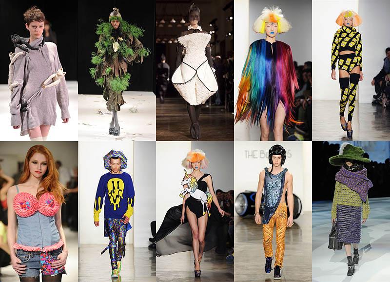 BIGPIC69 Странные наряды на Нью йоркской неделе моды