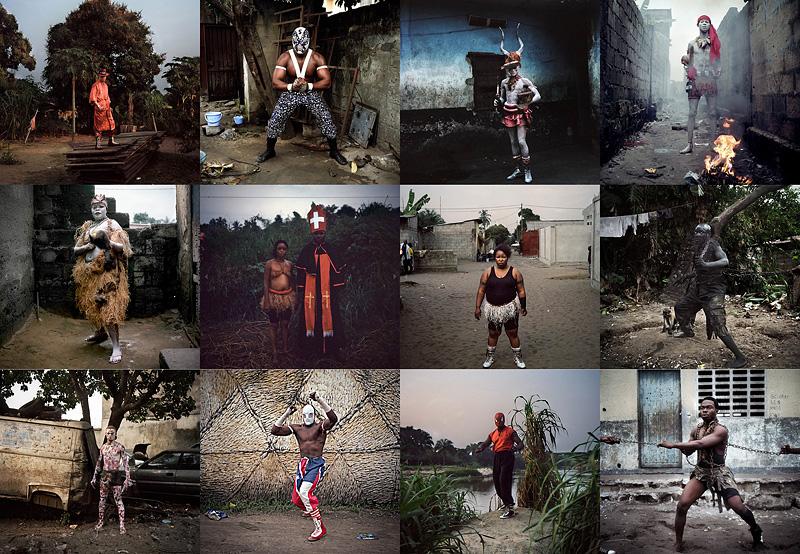 Портреты рестлеров изКонго