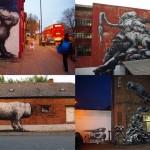 """""""Животный"""" стрит-арт от бельгийского граффитчика ROA"""