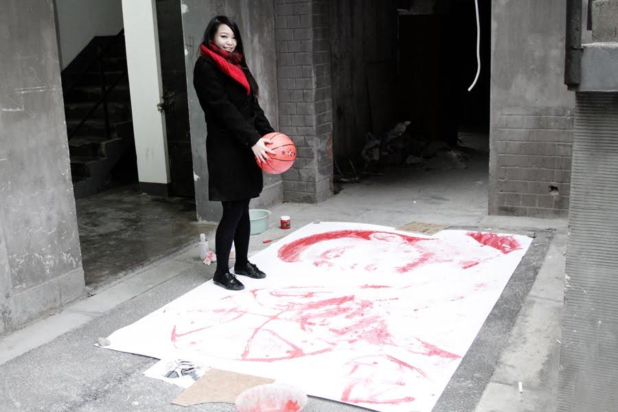 BLOG IMG 0746 Картина, нарисованная баскетбольным мячом